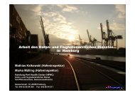 Arbeit des Hafen- und Flughafenärztlichen Dienstes in Hamburg