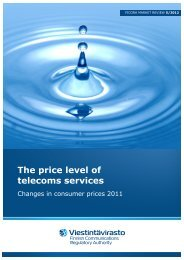 The price level of telecoms services