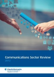 Communications Sector Review