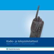 Radio- ja telepäätelaitteet