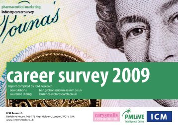 pharmaceutical marketing industry career survey - ICM Research
