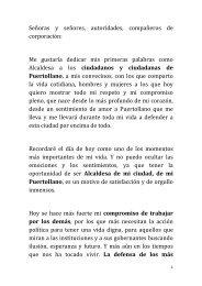 Discurso de Toma de Posesión - Ayuntamiento de Puertollano