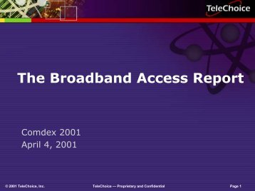 The Broadband Access Report