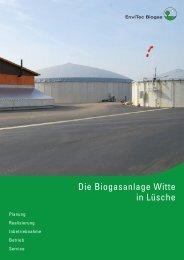 Biogasanlage Witte in Lüsche - EnviTec Biogas AG