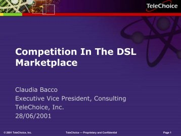 Competition In The DSL Marketplace