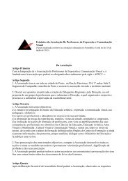 Estatutos da Associação De Professores de Expressão e ... - apecv