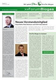 ForumBiogas - EnviTec Biogas AG