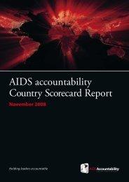 AIDS accountability Country Scorecard Report