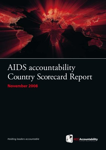 AIDS accountability Country Scorecard Report
