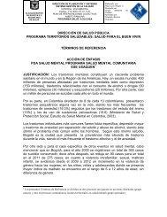 dirección de salud pública programa territorios saludables