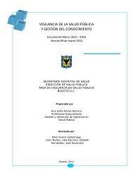 VIGILANCIA DE LA SALUD PÚBLICA Y GESTION DEL CONOCIMIENTO