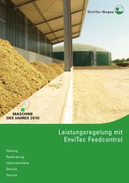 Handout Feedcontrol.indd - EnviTec Biogas AG