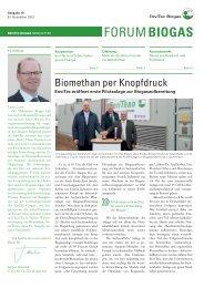 Forum Biogas - EnviTec Biogas AG