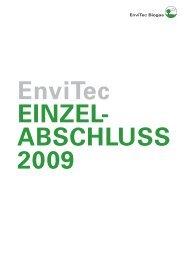 Anhang zum Einzelabschluss 2009 - EnviTec Biogas AG