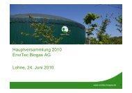 (Italien) Libramont (Belgien) Lipa - EnviTec Biogas AG