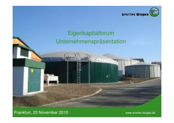 Ergebnis Q3 - EnviTec Biogas AG