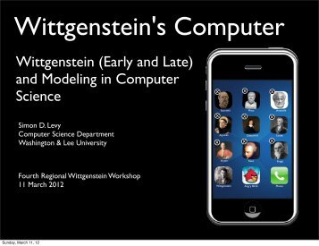 Wittgenstein's Computer - Washington and Lee University