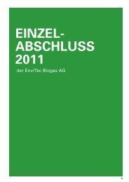 Einzelabschluß 2011 - EnviTec Biogas AG