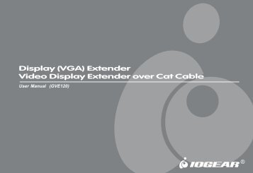 Display (VGA) Extender Video Display Extender over Cat ... - IOGear