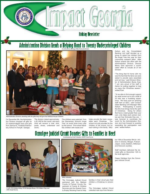 Holiday Special Newsletter indd - Georgia Department of