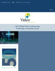 2013 Global Video Conferencing Technology Leadership Award