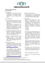 Allgemeine Geschäftsbedingungen Videoconference24 1 ...