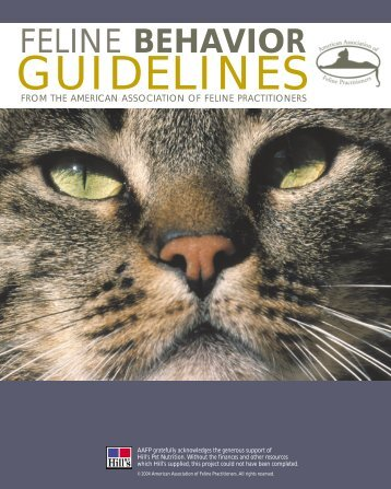 Feline Behavior Guidelines.qxd - Hill's Pet Nutrition