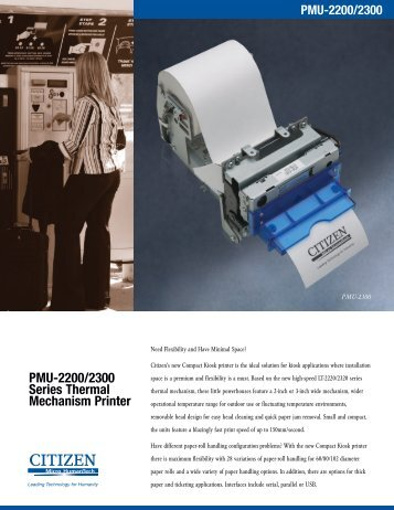 PMU-2200/2300 Series Thermal Mechanism Printer