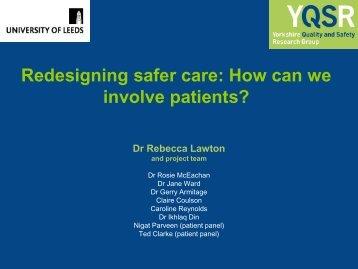 involve patients?