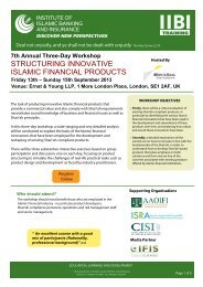 STRUCTURING INNOVATIVE ISLAMIC FINANCIAL PRODUCTS
