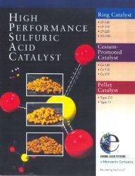 High Performance Sulfuric Acid Catalyst – Brochure - DSD Chemtech