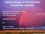 Climate Threats A More Inclusive Assessment Is Needed