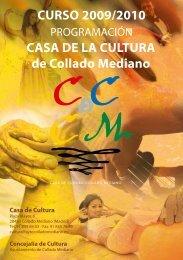 CURSO 2009/2010 CASA DE LA CULTURA de Collado Mediano
