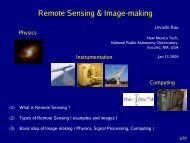 Remote Sensing & Image-making - National Radio Astronomy ...