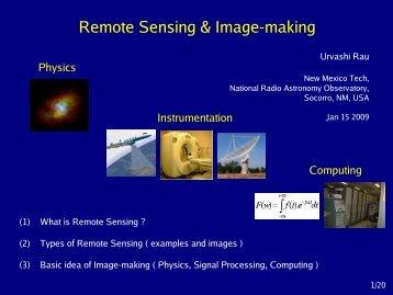 Remote Sensing & Image-making - National Radio Astronomy ...