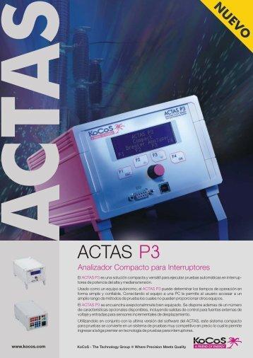 equipo para pruebas a interruptores kocos actas p3 - potenciatroy ...
