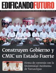 REVISTA DE LA CÁMARA MEXICANA DE LA ... - CMIC Victoria
