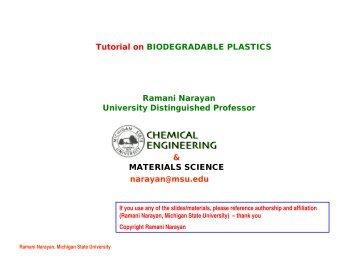 & MATERIALS SCIENCE narayan@msu.edu