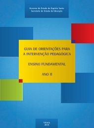 GUIA DE ORIENTAÇÕES PARA A INTERVENÇÃO PEDAGÓGICA ENSINO FUNDAMENTAL ANO II