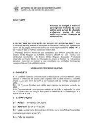 GOVERNO DO ESTADO DO ESPÍRITO SANTO Edital 03 ... - Sedu