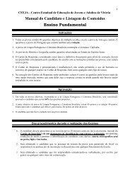 Manual do Candidato e Listagem de Conteúdos Ensino Fundamental
