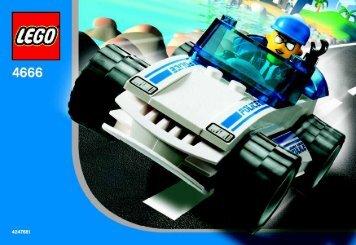 Lego Speedy Police Car 4666 - Speedy Police Car 4666 Bi, 4666 In - 1