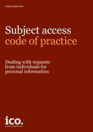 Subject access code of practice
