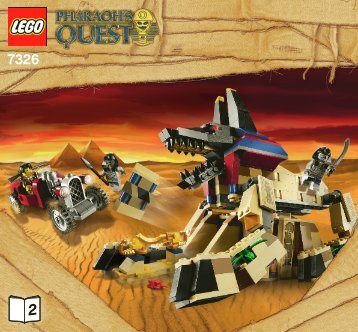Lego Rise of the Sphinx 7326 - Rise Of The Sphinx 7326 Bi 3005/80+4-7326 V29/39 Book2 - 3