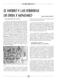 EL HIERRO YLAS . DE DEBA YMENDARO fRRERIAS