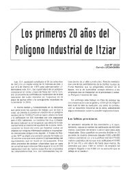 Los primeros 20 años del Polígono Industrial de Itziar