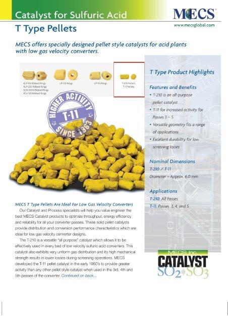 T210/T11 Pellet Catalyst - DSD Chemtech