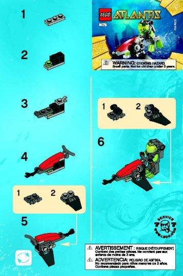 Lego Sea Jet 8072 - Sea Jet 8072 Bi 2001/ 2 - 8072 V 39 - 2