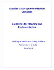Measles Catch-up Immunization Campaign - National Institute of ...
