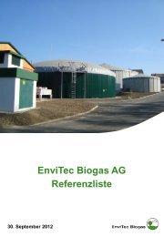 EnviTec Biogas AG Referenzliste